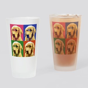 Golden Retriever Pop Art Drinking Glass