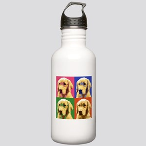 Golden Retriever Pop A Stainless Water Bottle 1.0L