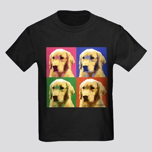 Golden Retriever Pop Art Kids Dark T-Shirt