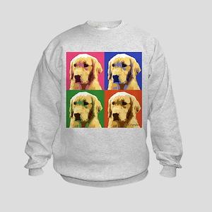Golden Retriever Pop Art Kids Sweatshirt