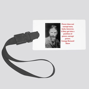george bernard shaw quote Large Luggage Tag