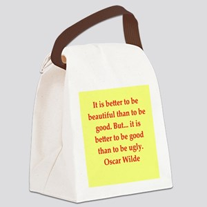 oscar wilde quote Canvas Lunch Bag
