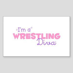 I'm a Wrestling diva Rectangle Sticker