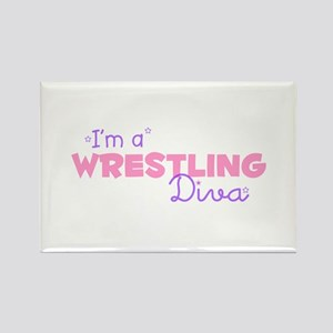 I'm a Wrestling diva Rectangle Magnet