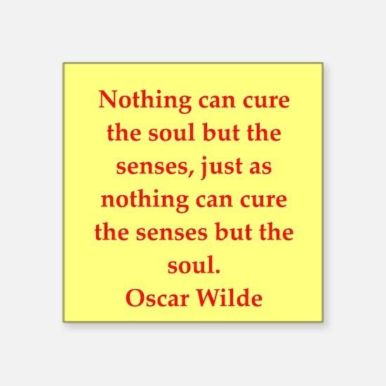 """oscar wilde quote Square Sticker 3"""" x 3"""""""
