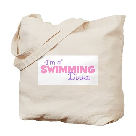 I'm a Swimming diva Tote Bag