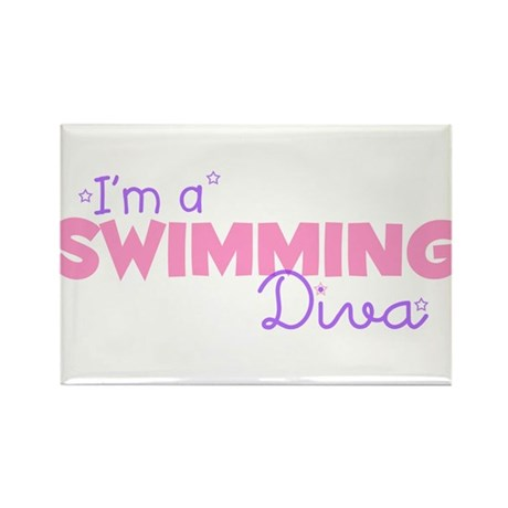 I'm a Swimming diva Rectangle Magnet