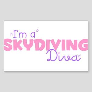I'm a Skydiving diva Rectangle Sticker