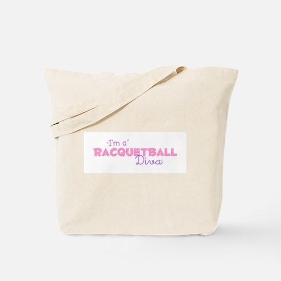 I'm a Racquetball diva Tote Bag
