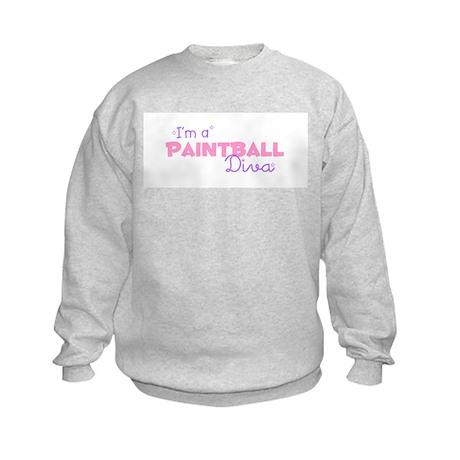 I'm a Paintball diva Kids Sweatshirt