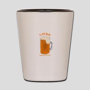 I LOVE BEER Shot Glass