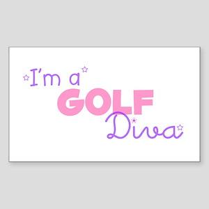 I'm a Golf diva Rectangle Sticker