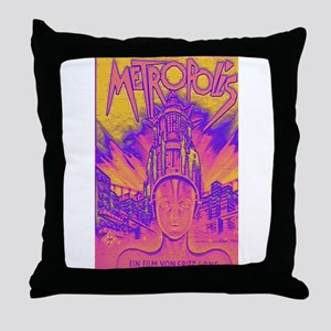 Metropolis Movie Poster Pop A Throw Pillow