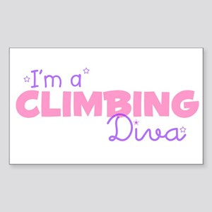 I'm a Climbing diva Rectangle Sticker
