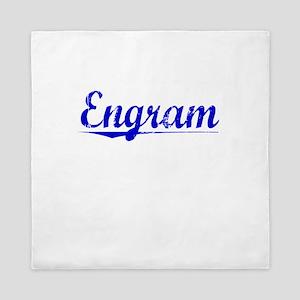Engram, Blue, Aged Queen Duvet