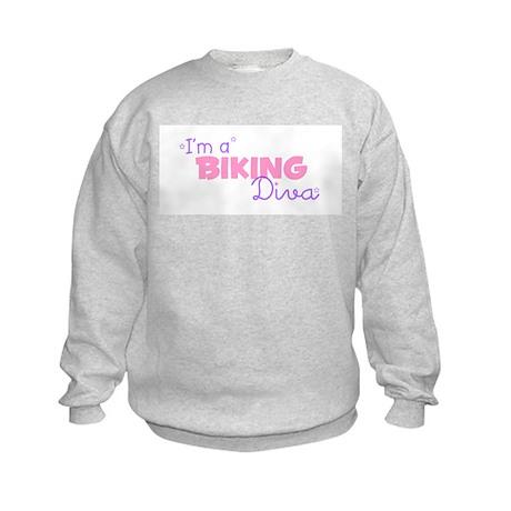 I'm a Biking diva Kids Sweatshirt