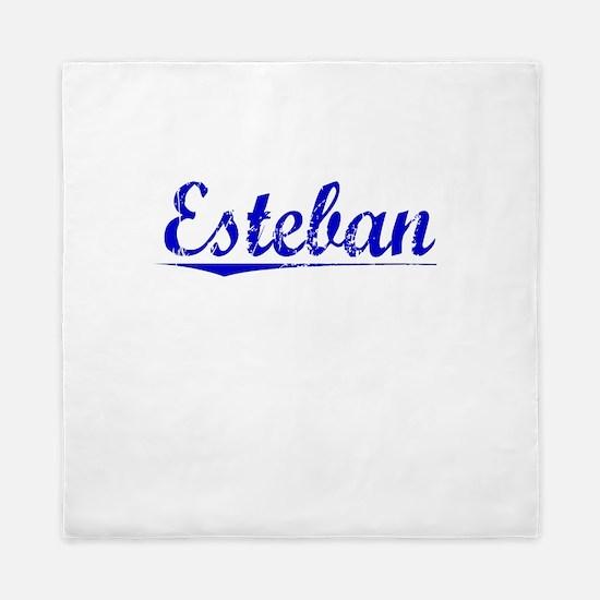 Esteban, Blue, Aged Queen Duvet