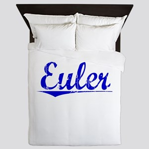 Euler, Blue, Aged Queen Duvet