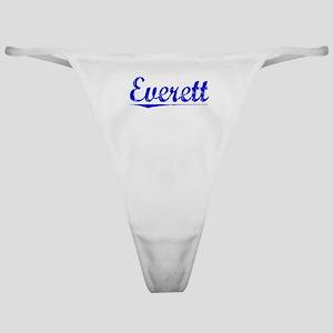 Everett, Blue, Aged Classic Thong