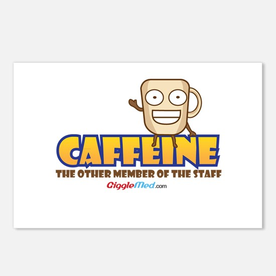 Caffeine on Staff 3 Postcards (Package of 8)