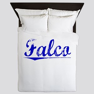 Falco, Blue, Aged Queen Duvet