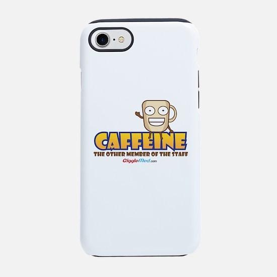 Caffeine on Staff 3 iPhone 7 Tough Case