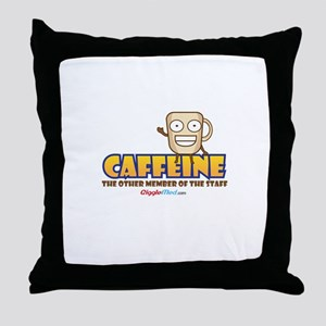 Caffeine on Staff 3 Throw Pillow