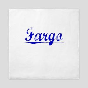Fargo, Blue, Aged Queen Duvet