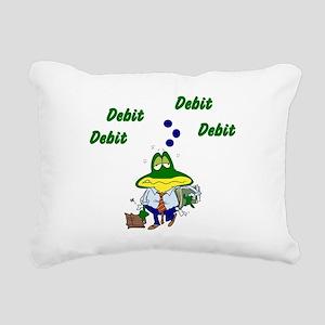 Accountant Frog Rectangular Canvas Pillow