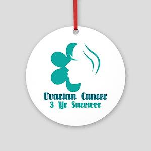 Ovarian Cancer 3 Year Survivor Ornament (Round)