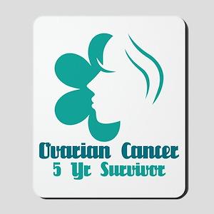 Ovarian Cancer 5 Year Survivor Mousepad