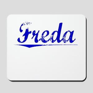 Freda, Blue, Aged Mousepad