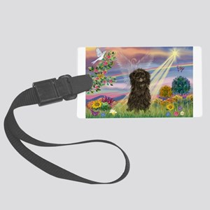 Cloud Angel / Affenpinscher Large Luggage Tag