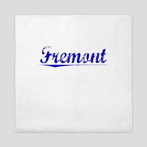 Fremont, Blue, Aged Queen Duvet