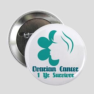 """Ovarian Cancer 1 Year Survivor 2.25"""" Button"""