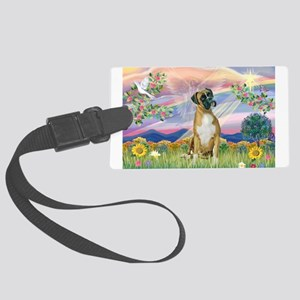 Cloud Angel & Boxer Large Luggage Tag