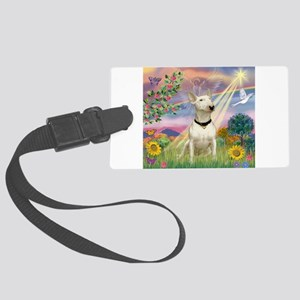 Cloud Angel /Bull Terrier Large Luggage Tag