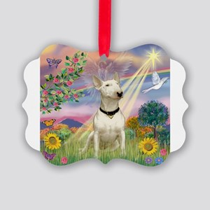 Cloud Angel /Bull Terrier Picture Ornament