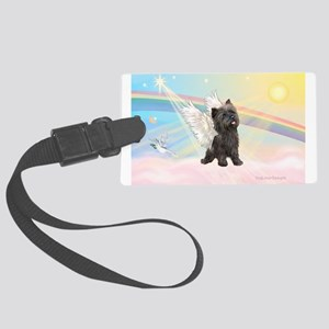 Angel / Cairn Terrier (brin) Large Luggage Tag