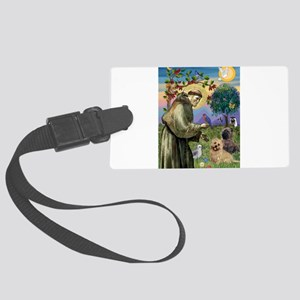 St Francis / Cairn Terrier Large Luggage Tag