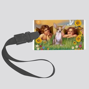 Angels and Chihuahua Large Luggage Tag