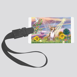 Cloud Angel / Chihuahua (f) Large Luggage Tag