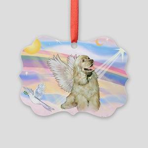 Cocker Spaniel Angel (Buff) Picture Ornament