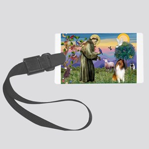 St Francis / Collie Large Luggage Tag