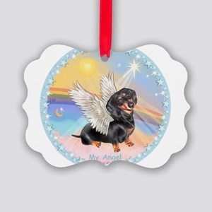 Clouds/Dachshund Angel Picture Ornament