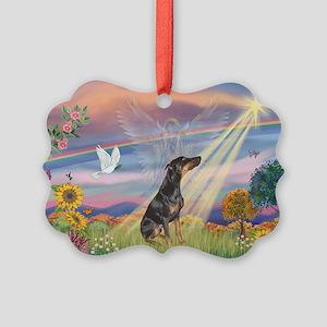 Cloud Angel - Dobie (B) Picture Ornament