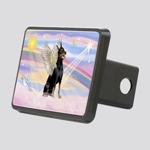 Dobie Angel in Clouds Rectangular Hitch Cover