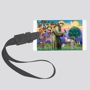 Saint Francis /German SHP Large Luggage Tag