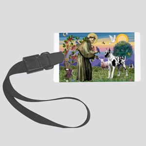 St. Francis & Great Dane Large Luggage Tag