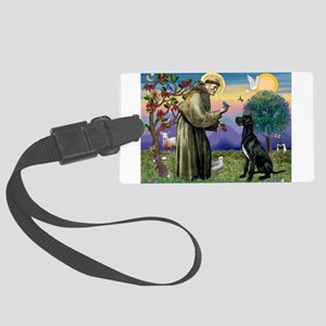 St Francis / Great Dane (blk) Large Luggage Tag